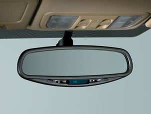 2011 Honda Civic Hybrid Auto Day/Night Mirror with Compass