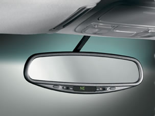 2011 Honda Pilot Auto Day/Night Mirror with Compass